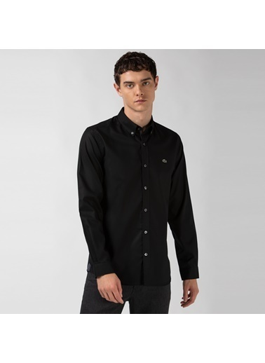 Lacoste Erkek Slim Fit Gömlek CH4976.C31 Siyah